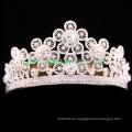 Schöne Blumen-Design Tiara Braut-Rhinestone-Krone