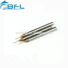 Molino de extremo de carburo CNC BFL Molino de diámetro pequeño en miniatura