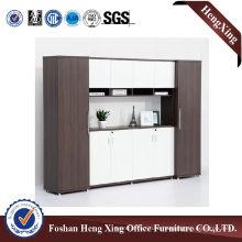 Aluminum Glass Doors Office Bookcase Modern Melamine Office Furniture (HX-6M088)