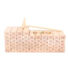 educational stacking blocks wooden tumbling tower game toy