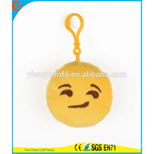 Hot Selling High Quality Novelty Design Soft Plush Yellow Emoji Expression Keychain