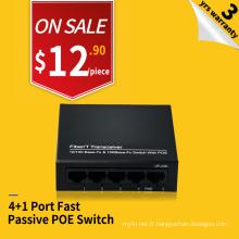 Longue distance 250m 100M 4 ports poe injecteur 24v passive poe commutateur