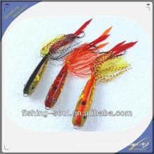 RJL009 al por mayor plantilla de goma de metal señuelo para la pesca