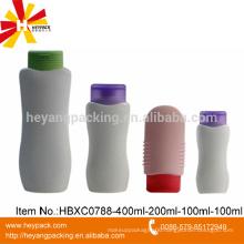 100ml 200ml 400ml HDPE Plastic shampoo packaging