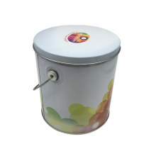 Großhandel Runde Form Griff Blech Box Popcon Box Handly