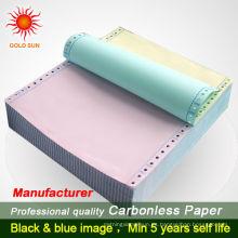 Papel en blanco de 5 capas, 2 piezas, tamaño A4 Papel continuo en blanco, papel NCR, formato NCR