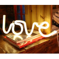 LOVE Neon Letter Lights Signs Batteridriven