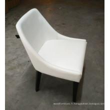 Chaise en cuir blanche de banquet de restaurant de meubles d'hôtel en Europe