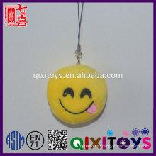 Creative custom keychain emoji custom logo expression smile keychain mini stuffed plush toys decoration