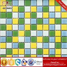 Китай производство питания смешанный кристалл мозаика стеклянная плитка для продажи