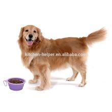 Promocional personalizado projeto resistente ao calor alimentos grau viajar silicone pet auto bowl / colapsável Pet Dog Cat Bowl