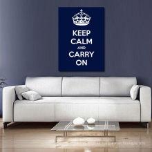 Guarde la calma y continúe azul oscuro