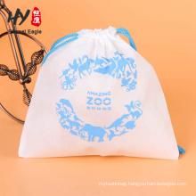 80gsm eco foldable button non woven drawstring bag
