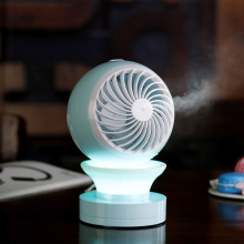 Portable Crystal Small Fan Bedroom LED bombillas