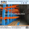 China fornecedor lateral dobro pesado braço Cantilever tubulação de aço estante de armazenamento