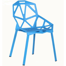 Colorful functional hollow out plastic chair