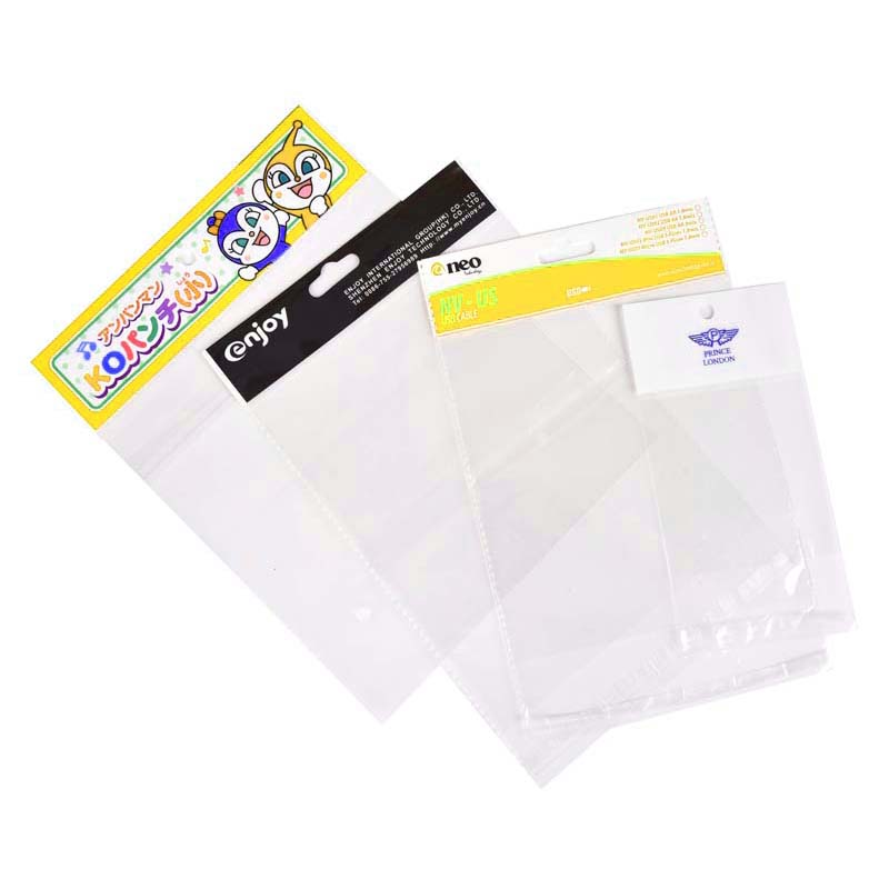 Transparent OPP Card Head Plastic Bags
