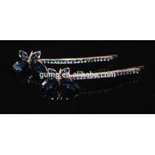 2015 Мода форма бабочки Rhinestone Барретт Кристалл Бобби контактный