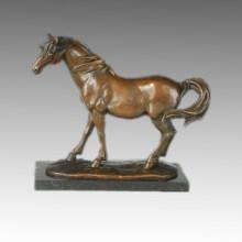 Tier Statue Standing Horse Bronze Skulptur, Milo Tpal-246