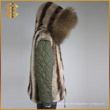 Fabrik Direktverkauf Mode Dame Jacken Winter Frauen Pelz Parka