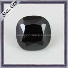 Бусы из квадратного черного драгоценного камня черного кубического циркона