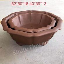 Hot Sale Purple Clay Flower Planter Pots Outdoor
