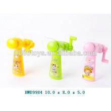 Plástico mini ventilador de brinquedo de promoção, ventilador manual de controle de mão, crianças brinquedo ventilador