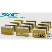 Des segments de diamant de bonne qualité pour le traitement des pierres, les segments de diamant