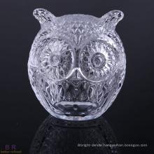 Copper Owl Shape Glass Candle Jar