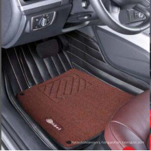 Car Carpet Mat 3D with Leatherette 5-Layer in Strips Embroidery