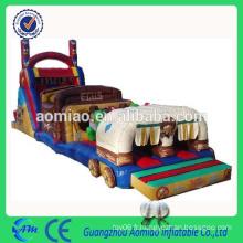 Parcours d'obstacles gonflables amusants cours d'obstacles gonflables pour enfants commerciaux à vendre
