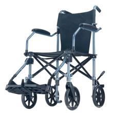 Topmedi Tragbarer leichter Transportrollstuhl mit Trolley