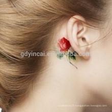 Papier de tatouage de fleurs prédominantes pour les jeunes filles