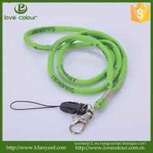 Acolladores al por mayor del tubo con el lazo del teléfono celular / los cordones tejidos a medida para la venta