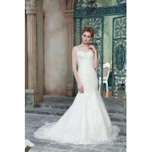 ED Bridal Beautiful Jewel Lace Appliques Bead Work Floor Length Mermaid Wedding Dresses
