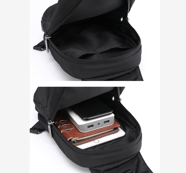 Mens Casual Multifunctional Waterproof Chest Bag