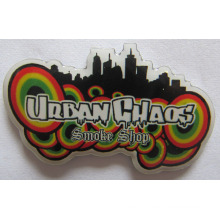 Colorful Stainless Steel Cmyk Print Metal Badge with Epoxy (badge-181)