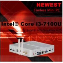 6gen CPU Win10 Mini PC I7 Barebone 8g RAM Intel Nuc Fanless Computador I3 6100u I5 6200u I7 6500u 4k Intel HD Gráficos 520