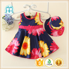 2016 Fashion Casual Kid Kleidung Groß Kaufen Mädchen Kleid Aus China Sonnenblumen Muster Kleid