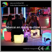 LED Cube Seat Outdoor Furniture