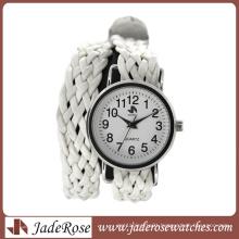 White Leather Strap Band Fashion Quartz Watch