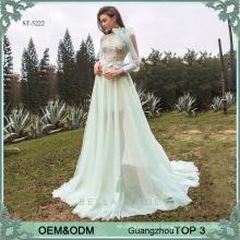 Floor-length baby blue wedding dress 2017 new arrival lace wedding dress