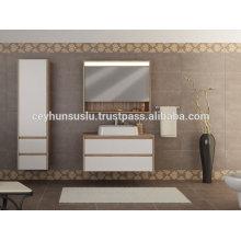 Ökonomisches Design Luxusansicht Badezimmer Eitelkeit mit weißem Melamin beschichtet Mdf Tür