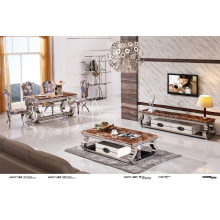 Top Marble Coffee Table with Drawer