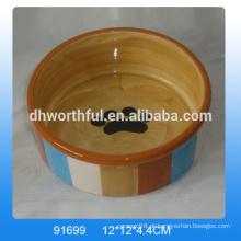 Alta qualidade cerâmica pet tigelas
