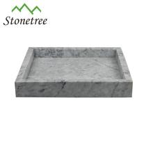 Naturstein-grüner Marmor-Eitelkeits-Behälter-quadratischer Serviertablett 100%