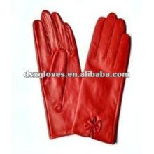 Guantes de moda roja