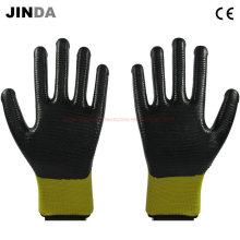 U203 Nitrile Coated Zebra-Stripe Construction Safety Work Gloves