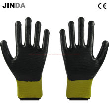 U203 Нитрил с покрытием Zebra-Stripe Construction Safety Work Gloves