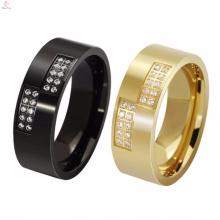 Cool Oem Aço Inoxidável Rose Gold Anéis Mulheres Sem Jóias Diamante